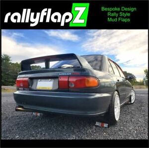 Mitsubishi Lancer Evo 1,2,3 rallyflapZ Mudflaps Kit Black 4mm PVC RALLIART -WR&O