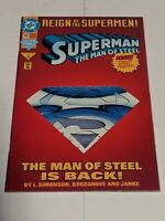 Superman Man Of Steel #22 June 1993 DC Comics Reign Of The Supermen Die Cut