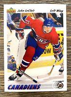1991-92 Upper Deck Hockey John LeClair #345 Montreal Canadiens Rookie Card RC