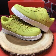 Nike Lab NikeLab Air Force 1 Low Bright Citron 905618-701 Sz 11 Premium Leather