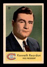 KENNETH REARDON 59-60 PARKHURST 1959-60 NO 22 VGEX+  12242