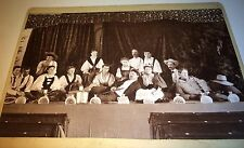 Antique Victorian American Costume Group, Actors & Actresses! ID's Cabinet Photo