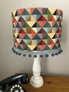 30cm/40cm Lampshade In Vibrant Colours 'Big Holland' Withwithout Pom Pom Trim