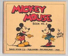 MICKEY MOUSE  BOOK 3  DAVID MCKAY  1933-34  COLOR SUNDAY COMICS  COVERLESS