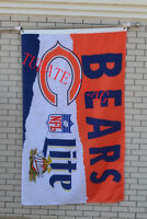 Chicago Bears Large Indoor Outdoor Banner Flag