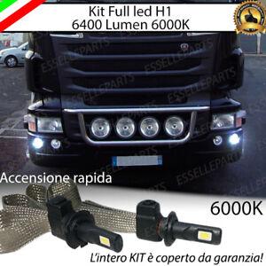 KIT LED SCANIA SERIE R LAMPADE H1 PER FENDINEBBIA CANBUS 6000K 6400 LUMEN