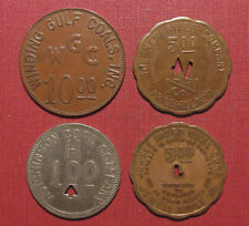 MIXED LOT OF (4) COAL SCRIP TOKENS - RARITY R3 TO R6, HIGHER DENOMINATIONS!