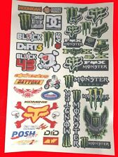 LOGOS MIXED SET 3 WILL FIT MUST 1/8/10/12th RC CARS TAMIYA  LOSI STICKERS DECALS
