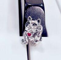 Authentic Pandora Charm 790989EN05  Silver 925 ALE Lucky Cat Bead