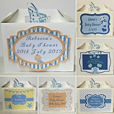 Personalised Baby Shower Gift Box Baby Boys Thank You Party New Baby Present Box