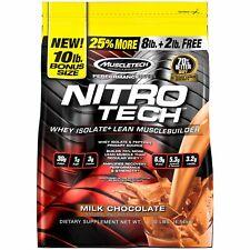 Nitro Tech, Whey Peptides & Isolate Lean Musclebuilder Whey Protein Powder, Milk