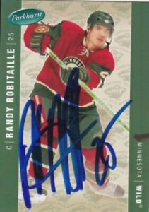 Randy Robitaille Autograph Wild Card Penguins - Islanders - Donbass