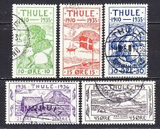 GREENLAND THULE 1935 used SC#  1 - 5 Anniversary of the Founding of the Thule