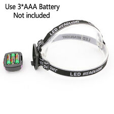 AAA LED Waterproof Headlight Ultra Bright Lights Headlamp Torch Zoomable Lantern