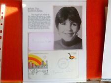 AUSSIE ACTOR BARBARA WEST SIGNED  CARD & COVER SET ON PAGE