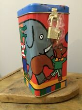 Maisy mouse money box. Lock and key. Childrens birthday/christmas gift.
