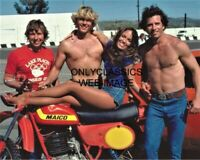 THE DUKES OF HAZZARD CATHERINE BACH WOPAT SCHNEIDER 8X10 PHOTO MAICO MOTORCYCLE