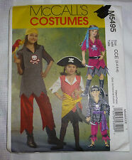 McCalls Pattern 5495 History Childs Halloween Costume Pirate Size 3 4 5 6