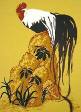 """Marcia Mancheski """"Onagadori"""" Signed Color Serigraph of rooster, Make Offer!"""
