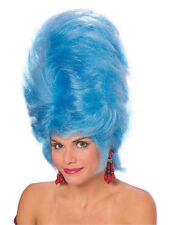 Ladies Pantomime Marge Simpson Blue Tall Beehive Panto Dame Fancy Dress Wig New