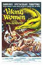 Viking Women And Sea Serpent Poster 01 Metal Sign A4 12x8 Aluminium