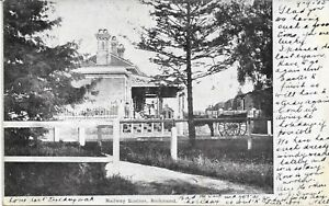 RAILWAY STATION RICHMOND  NSW POSTCARD 1910