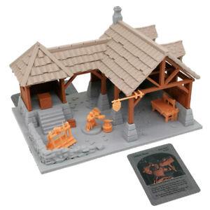 Outland Tactics War Games Miniatures Dwarf Blacksmith Shop & Figure Set 28mm