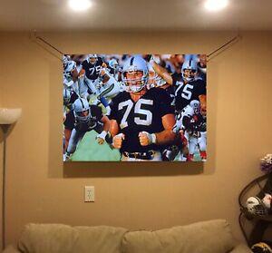 HUGE! 44x31 HOWIE LONG vinyl Banner POSTER Oakland Raiders Marcus Allen ART