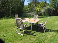 Square Table Oak Top Aluminium Legs Folding Lightweight 150 x 150cm