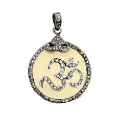 925 SOLID SILVER STERLING OFF WHITE ENAMEL PENDANT WEDDING JEWELRY GIFT FOR HER