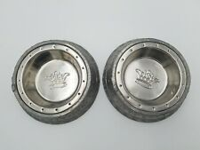 Arthur Court Cat Feeding Bowls Here Kitty Kitty Stainless Steel and Aluminum