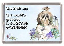 "Shih Tzu Dog Fridge Magnet ""Greatest Landscape Gardener"" by Starprint"