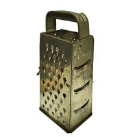 Bromco Vintage Rustic Cheese Grater 4 Sided Metal Shredder Antique Kitchen Decor
