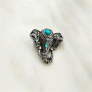 Fashion Jewelry Turquoise Elephant Snaps Chunk Charm Button For Noosa Bracelets