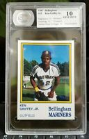 1987 BELLINGHAM MARINERS # 15 KEN GRIFFEY JR  CSA GEM MINT 10 !  STUNNING CARD !