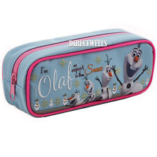 Disney Authentic Licenced Frozen Olaf Character Blue Pencil Case