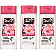 Lot de 3 Shampooing Brillance hibiscus Bio cheveux naturel colorés TERRA NATURI