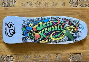 Santa Cruz Jeff Kendall Graffiti Skateboard - MINT Reissue White
