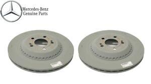For Mercedes-Benz W222 V222 X222 Pair Set of Rear Left & Right Brake Disc Rotors
