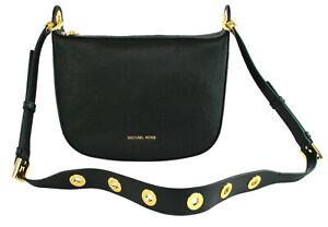Michael Kors Barlow Shoulder Bag Black Pebbled Leather Handbag Medium RRP £270