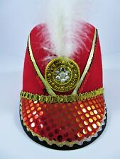 Adult Toy Soldier England Guard Hat Costume Feather English Marching Band Major
