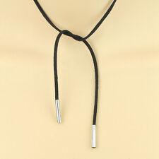 Boho Women Girl Choker Long Black Bohemian Suede Leather Rope Necklace Jewelry