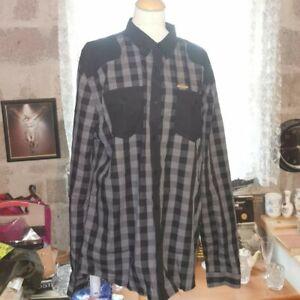 Firetrap Mens Shirt Size XXL Grey And Black