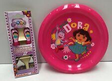 DORA THE EXPLORER KIDS PLASTIC MEALTIME PLATE & CUTLERY SET