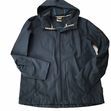 Jack Wolfskin At Home Outdoors Rain Coat  Jacket Dark Blue Hooded Men's Medium