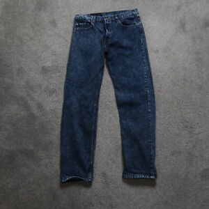 Levi's 505 Regular Fit Straight Blue Jeans Men's Size 36x34 (34x34) Vintage