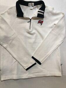 Antigua Womens Tampa Bay Bucs Quarter Zip Pullover  Size M
