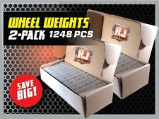 2  Boxes Wheel Weights 1/4 Oz Stick On Adhesive Tape 312 Oz 1248 Pieces