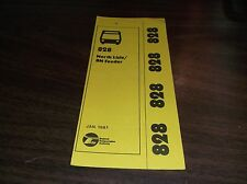 JANUARY 1981 CHICAGO RTA ROUTE 828 NORTH LISLE BUS SCHEDULE