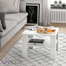VICCO Couchtisch HOMER Weiß 60x60 cm - Wohnzimmer Sofatisch Kaffeetisch